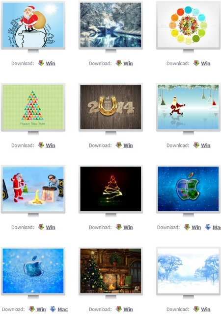 New Year screensavers for Windows and Mac