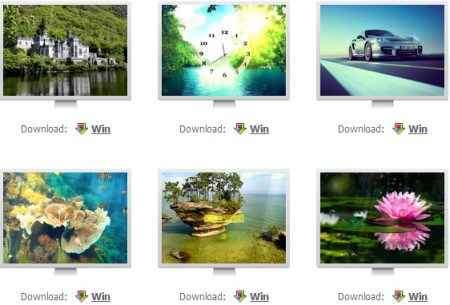 Windows screensavers