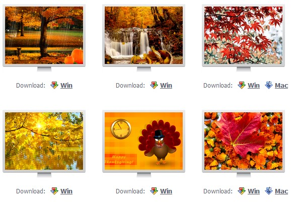 Top 6 Thanksgiving day screensavers