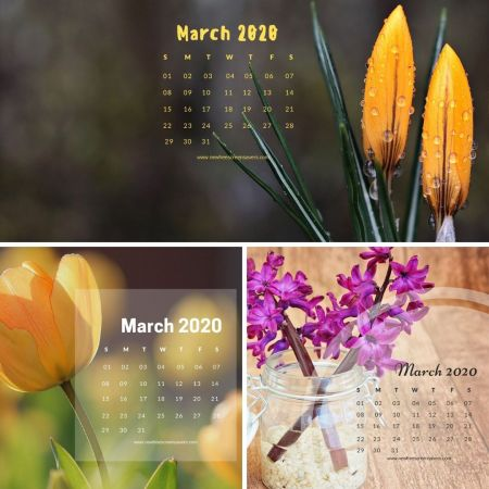 desktop wallpapers with calendar on March 2020